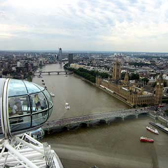 View over Westminster from the London Eye