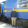 Standing aside the Andean Explorer train
