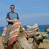 Facebook avatar; photo of me riding on a camel