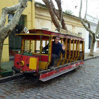 Old train in Colonia del Sacremento, Uruguay